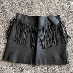 NWT Saint Laurent mini skirt/leather